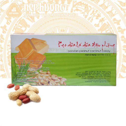 kẹo dừa lá dứa đậu phộng