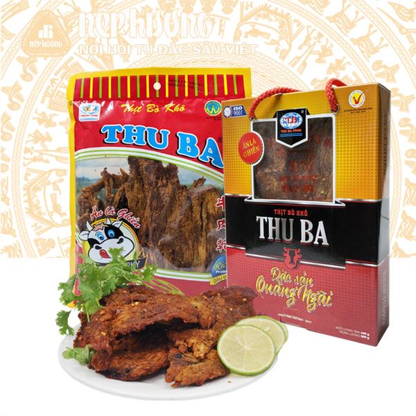 Thịt bò khô thu ba - loại miếng